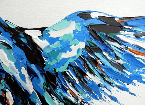 (CreativeWork) Kingfisher by Lisa Fahey. #<Filter:0x00007fd6604e5370>. Shop online at Bluethumb.