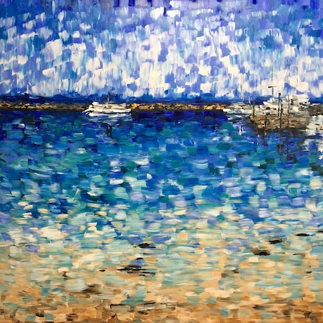 (CreativeWork) Nelson Bay by Kim Neil. Acrylic Paint. Shop online at Bluethumb.