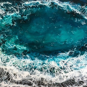 (CreativeWork) OCEAN EYE by Vanessa Mae. arcylic-painting. Shop online at Bluethumb.