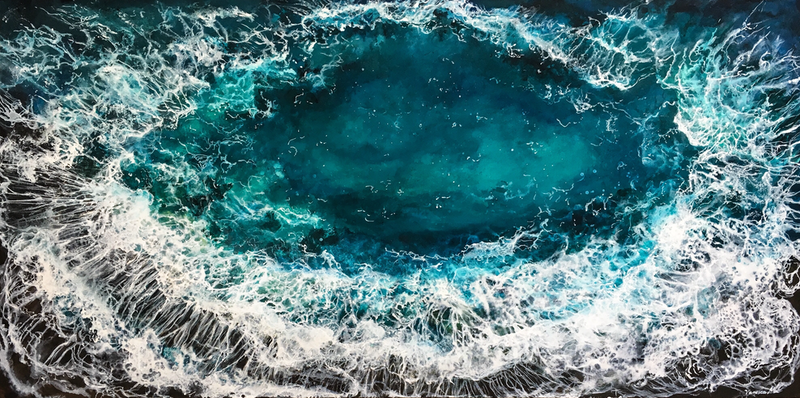 (CreativeWork) OCEAN EYE by Vanessa Mae. acrylic-painting. Shop online at Bluethumb.