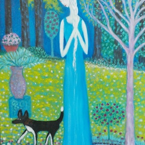 "(CreativeWork) ""Virgo in the garden"" by Catherine Walker. acrylic-painting. Shop online at Bluethumb."
