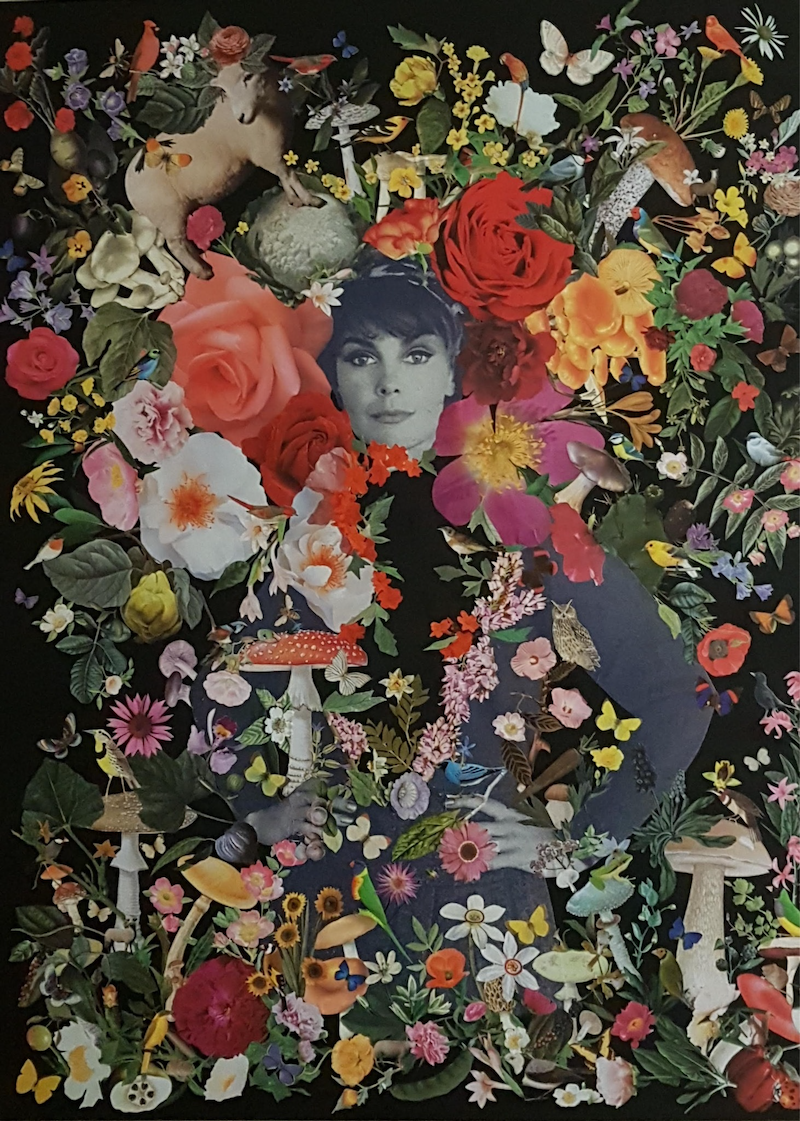 (CreativeWork) 'Olympia (after Manet) #5 by Karen Coull. mixed-media. Shop online at Bluethumb.