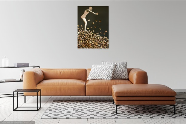 (CreativeWork) 'Diving for Gold' by Karen Coull. Other Media. Shop online at Bluethumb.
