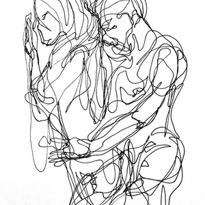 (CreativeWork) Don't Let Go - TOGETHER II by Irma Calabrese. drawing. Shop online at Bluethumb.