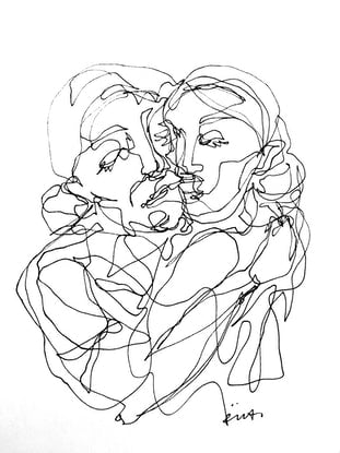 (CreativeWork) Don't Let Go - MOTHERS LOVE by Irma Calabrese. Drawings. Shop online at Bluethumb.