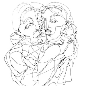 (CreativeWork) Don't Let Go - MOTHERS LOVE by Irma Calabrese. drawing. Shop online at Bluethumb.