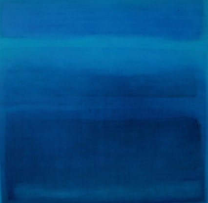 (CreativeWork) Blue on blue  by Belinda Rogers. Oil Paint. Shop online at Bluethumb.