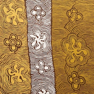 (CreativeWork) Janmarda 24-19 by Emily Andy Napaltjarri. acrylic-painting. Shop online at Bluethumb.