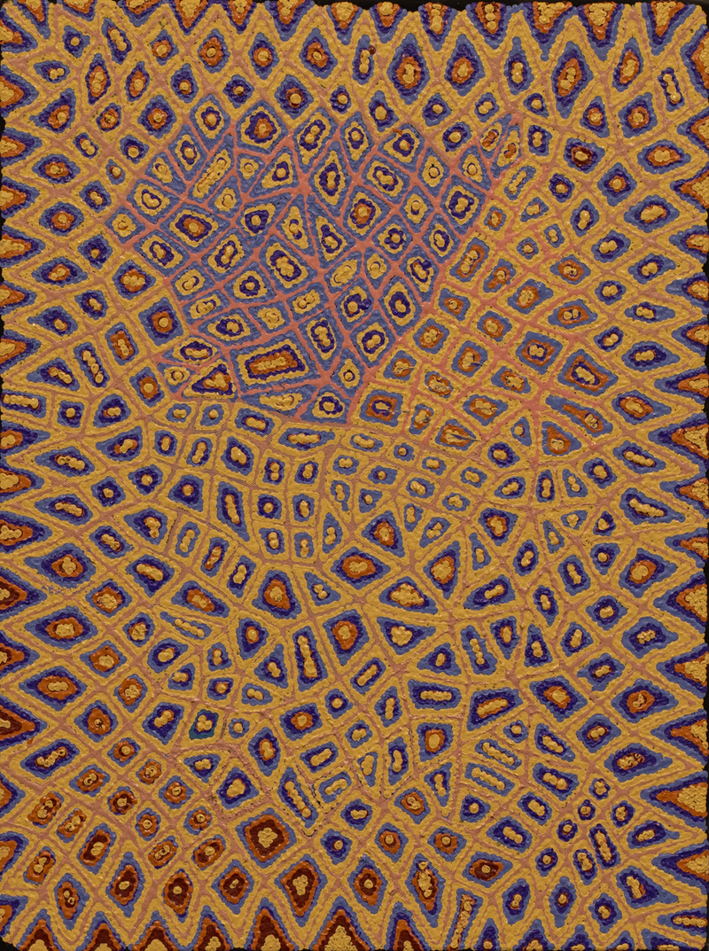 (CreativeWork) Kalipinypa Tjukurrpa, 190-19 by Alice Napangardi Poulson. arcylic-painting. Shop online at Bluethumb.