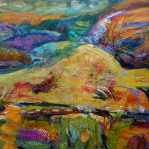 (CreativeWork) MID NORTH HILLS by Maureen Finck. oil-painting. Shop online at Bluethumb.