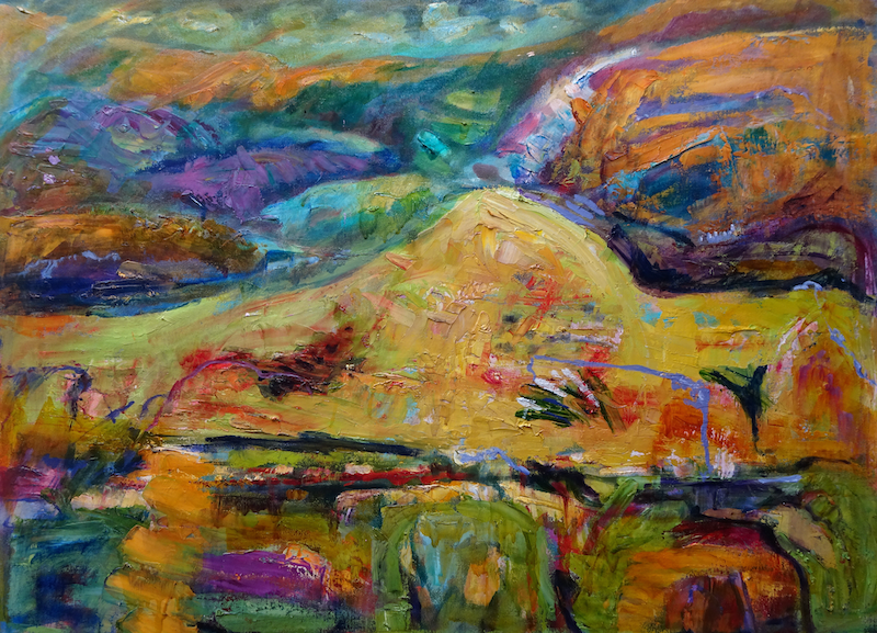 (CreativeWork) MID NORTH HILLS by Maureen Finck. Oil Paint. Shop online at Bluethumb.