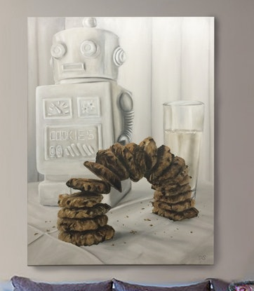 (CreativeWork) Barely Still Life by Damian Smith. Oil. Shop online at Bluethumb.