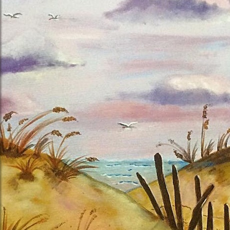 (CreativeWork) The Dunes by Margie Langtip. Acrylic Paint. Shop online at Bluethumb.