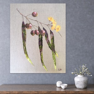 """(CreativeWork) """"PURE"""" (Oil paint on pure linen) by Eve Sellars. oil-painting. Shop online at Bluethumb."""