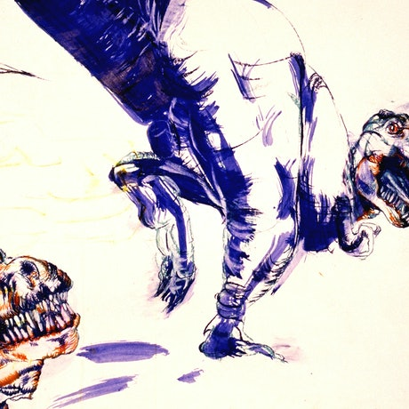 (CreativeWork) The chase by James de Blas. Drawings. Shop online at Bluethumb.