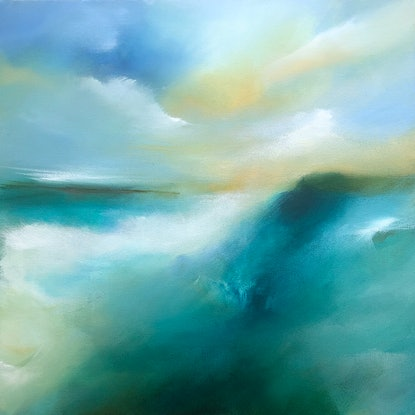(CreativeWork) Apollo Bay Part II by Joanne Duffy. Acrylic Paint. Shop online at Bluethumb.