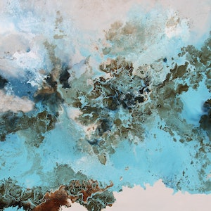 (CreativeWork) Ultramarine by Sue Dyde. mixed-media. Shop online at Bluethumb.
