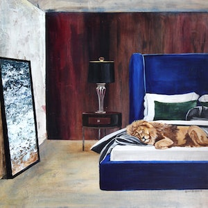 (CreativeWork) Room Fit For A King by Bonnie Larden. arcylic-painting. Shop online at Bluethumb.