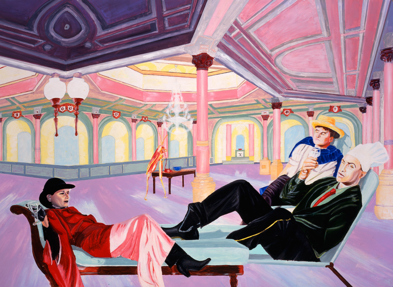 (CreativeWork) THE RELAXATION ROOM by James de Blas. arcylic-painting. Shop online at Bluethumb.