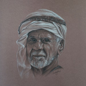 (CreativeWork) The man with the beard by Candace Slager. drawing. Shop online at Bluethumb.