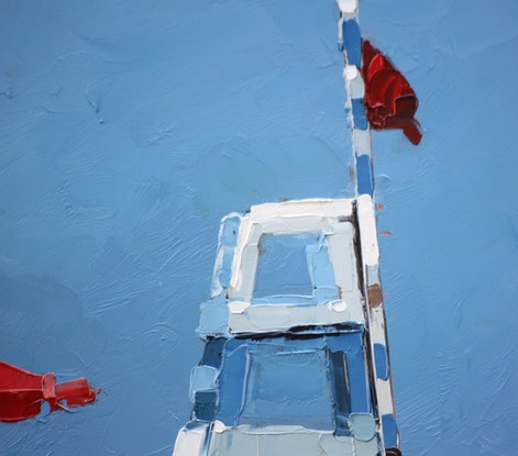 (CreativeWork) The Lifeguard by Claire McCall. Oil Paint. Shop online at Bluethumb.