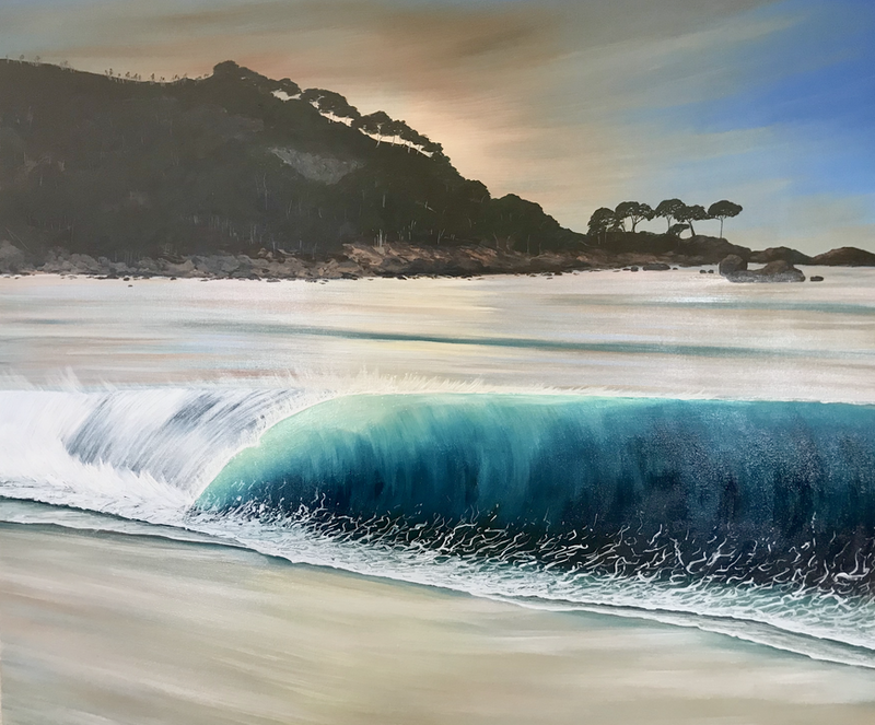 (CreativeWork) Days End Bunkers Bay Dunsborough by Kirsty Watkins. Acrylic Paint. Shop online at Bluethumb.