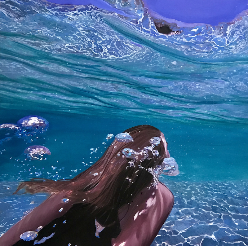 (CreativeWork) Immersed by Kirsty Watkins. acrylic-painting. Shop online at Bluethumb.