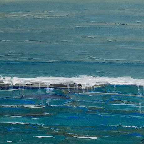 (CreativeWork) Seaview by Dianne Alchin. Acrylic Paint. Shop online at Bluethumb.
