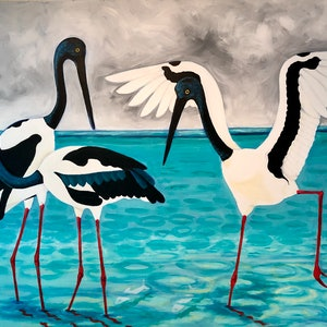(CreativeWork) Jabaroos by Roby Callaghan. arcylic-painting. Shop online at Bluethumb.
