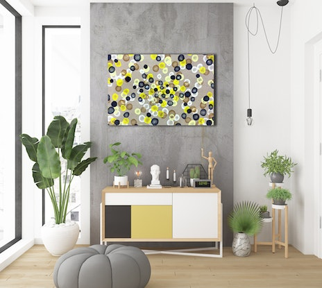 (CreativeWork) Vitae Colour Field XIV - Original Abstract Painting by Jacquelyn Stephens. Acrylic Paint. Shop online at Bluethumb.