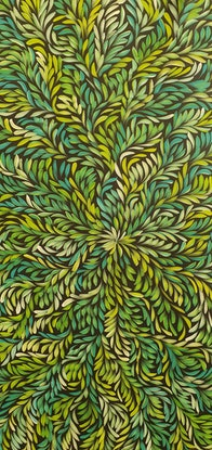 (CreativeWork) Bush Medicine Leaves  by Louise Numina. Acrylic Paint. Shop online at Bluethumb.