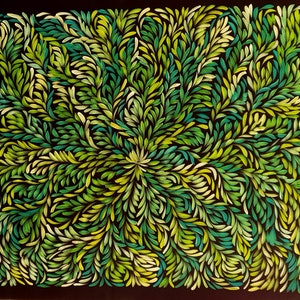 (CreativeWork) Bush Medicine Leaves  by Louise Numina. #<Filter:0x00005558c75bd8b0>. Shop online at Bluethumb.