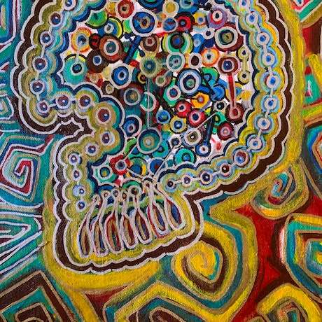 (CreativeWork) Inside My Mind by Darren Charlwood. Acrylic Paint. Shop online at Bluethumb.
