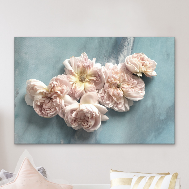 (CreativeWork) Flower Power Pastel. Soft Neutral Floral Artwork. ACRYLIC Limited Edition Print | Antuanelle - 80x120 by MARIE ANTUANELLE. mixed-media. Shop online at Bluethumb.