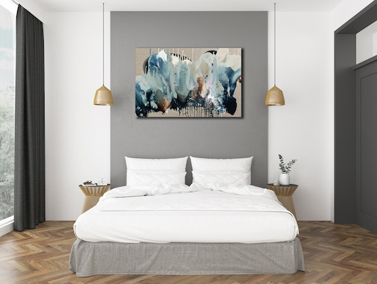 (CreativeWork) Bio Bloom Reef Flow – Original Painting by Jacquelyn Stephens. Acrylic Paint. Shop online at Bluethumb.