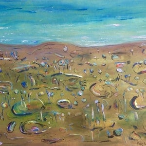 (CreativeWork) Landscape Impressions by Meg Vivers. mixed-media. Shop online at Bluethumb.