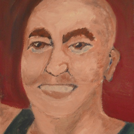 """(CreativeWork) """"Mike"""" (mfl 60 of 230)  by elij foote. Oil Paint. Shop online at Bluethumb."""
