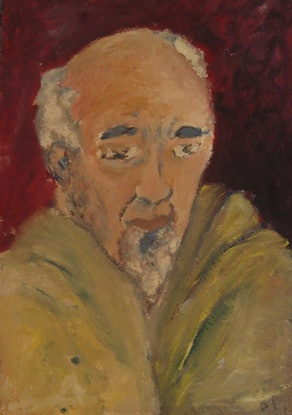 """(CreativeWork) """"Gary"""" (mfl 62 of 230)  by elij foote. Oil Paint. Shop online at Bluethumb."""