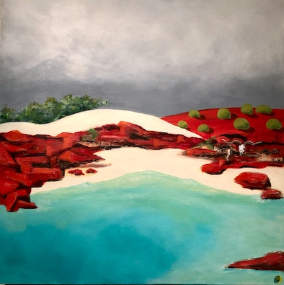 (CreativeWork) Calm before the storm by Roby Callaghan. Acrylic Paint. Shop online at Bluethumb.