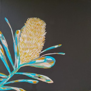(CreativeWork) Banksia  by Amanda Skye Mulder. arcylic-painting. Shop online at Bluethumb.