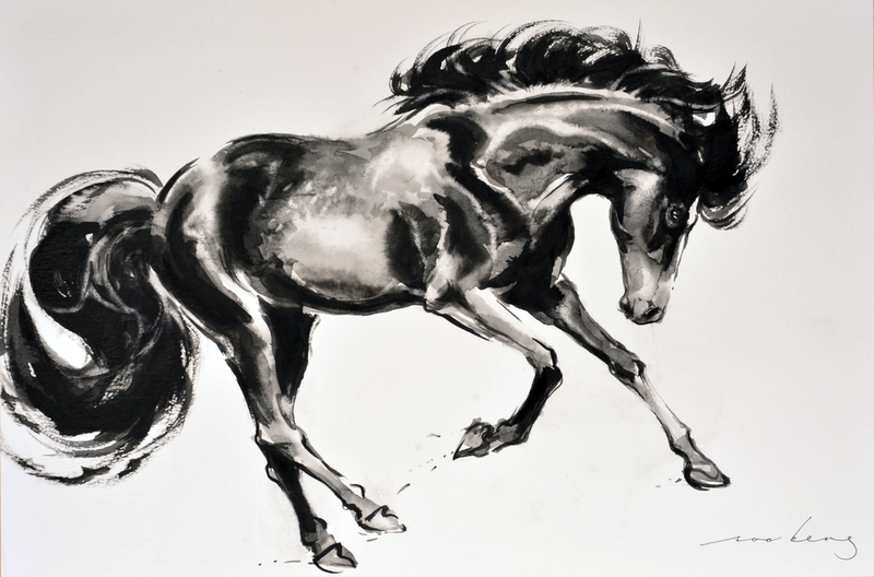 (CreativeWork) Prancing Majesty2 by Soo Beng Lim. Drawings. Shop online at Bluethumb.