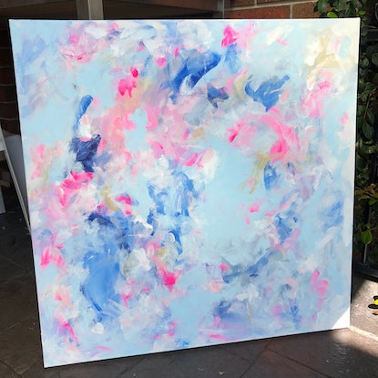 (CreativeWork) Cloud Dreaming by Anna Pontikis. Acrylic Paint. Shop online at Bluethumb.