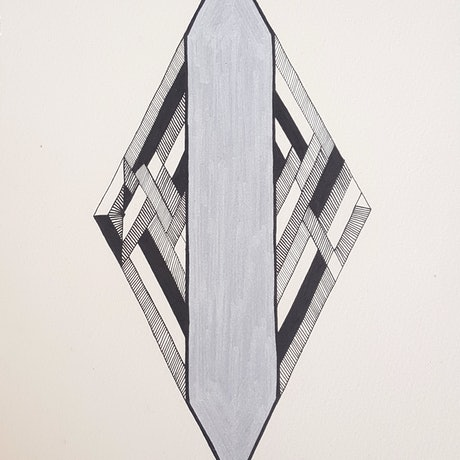 (CreativeWork) Art Deco Diamond drawing by Chrysa Koukoura. Drawings. Shop online at Bluethumb.