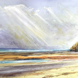 (CreativeWork) Low Tide , Western Port Bay , Victoria by Geoff Stanistreet. watercolour. Shop online at Bluethumb.