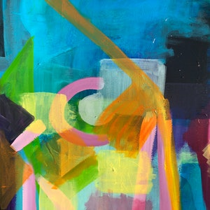 (CreativeWork) Layer upon Layer by Alison Pilcher. acrylic-painting. Shop online at Bluethumb.
