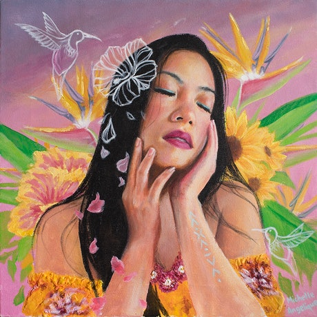 (CreativeWork) Our fleeting paradise by Michelle Angelique. Acrylic Paint. Shop online at Bluethumb.
