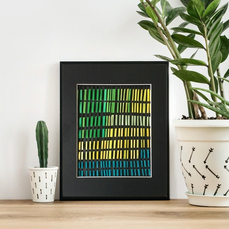 (CreativeWork) Lines of memory by Jennifer Bell. Mixed Media. Shop online at Bluethumb.