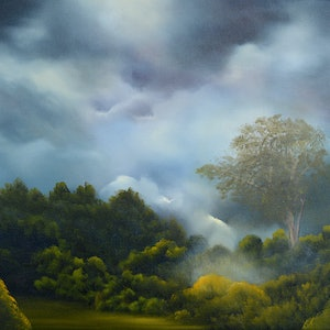 (CreativeWork) Our Secret Place by Elaine Green. oil-painting. Shop online at Bluethumb.