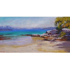 (CreativeWork) Milk Beach Sydney Harbour by Graham Gercken. #<Filter:0x00007f3c4c6813b8>. Shop online at Bluethumb.