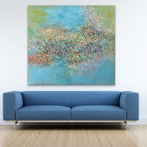 (CreativeWork) Flowing Confetti   by Theo Papathomas. arcylic-painting. Shop online at Bluethumb.